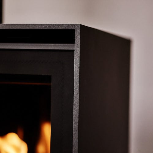 Which types of materials are used for gas fireplaces?
